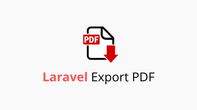 laravel экспорт в pdf